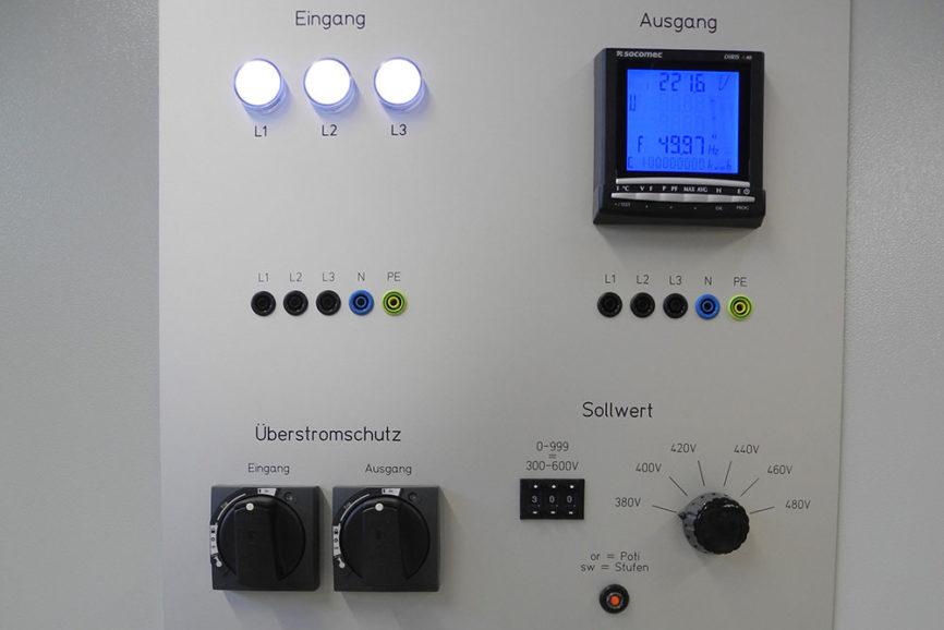 Control Panel zur Stromversorgung